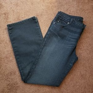 Dark wash boot cut jeans